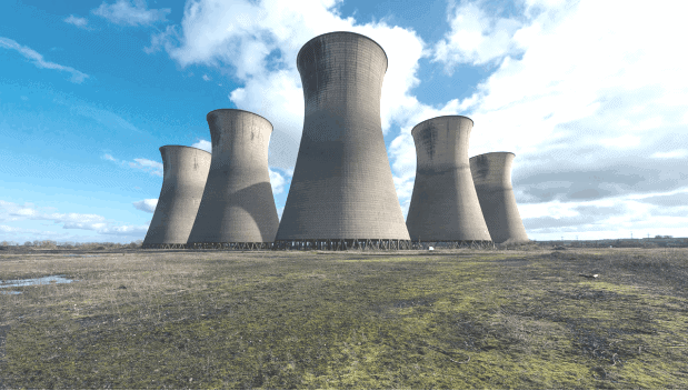 ield erected cooling tower